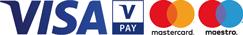 Wir akzeptieren Visa VPay Mastercard Maestro